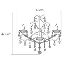 Vela 3 Light Chrome Chandelier IP44 84W - Glass