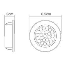 Pozza LED Circular Recessed Cabinet Light IP44 1.5W 240V - Cool White