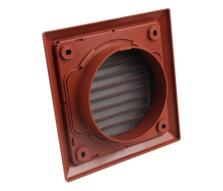 """5"""" Inch Fixed Fan Vent Grille 125mm - Terracotta"""