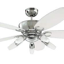 "Westinghouse Arius Ceiling Fan with Light - 52"" Chrome Finish"