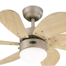 "Westinghouse Turbo Swirl Ceiling Fan with Light - 30"" Titanium"