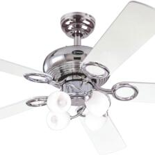 "Westinghouse Helix Fusion Ceiling Fan with Light - 52"" Chrome"
