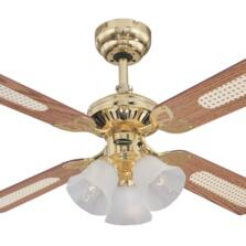Westinghouse Princess Trio Ceiling Fan Light-Brass