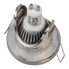 IP65 Shower Downlight 12V MR16/240V GU10 Dual Use - Brushed Chrome