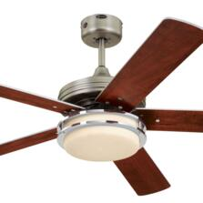 "Westinghouse HerculesSupreme Ceiling Fan and Light - 52"" Dark Pewter/Chrome"