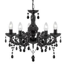 Marie Therese 5 Light Acrylic Fitting - Black