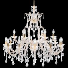 Marie Therese 18 Light Polished Brass Chandelier