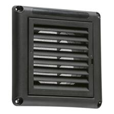 Black Fixed Extractor Fan Grill