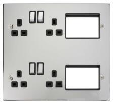 New Media 2 Tier Semi-Modular Media Plate