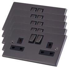 Black Nickel Double Socket DP