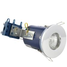 Chrome Fire Rated Downlight IP65 GU10