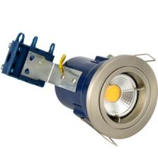 Satin Chrome Fire Rated Downlight Fixed GU10