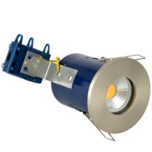 Satin Chrome Fire Rated Downlight IP65 GU10