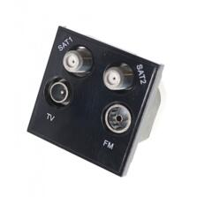 Euro Data Module Dual Satellite/Radio/TV Socket