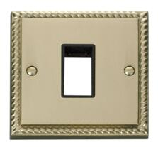 1 Gang Mini Grid Plate - Single Switch Aperture