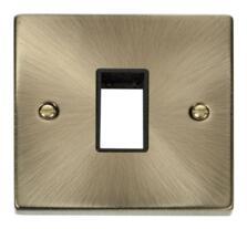 Antique Brass Empty Grid Switch Plate