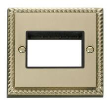 1 Gang Mini Grid Plate - Triple Switch Aperture