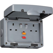 IP66 13A RCD Switched Socket