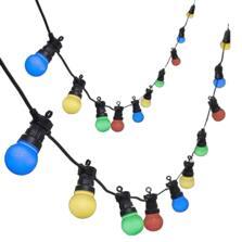 20 Coloured Xmas Lights LED Festoon Light String 14.5m