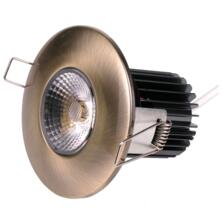 10w LED Fire-Rated Downlight - Antique Brass