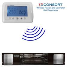 Black Electric Plinth Heater - Consort - 2kw Wireless