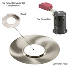 Polished Chrome Fire Rated Downlight Converter Kit - Converter Plate