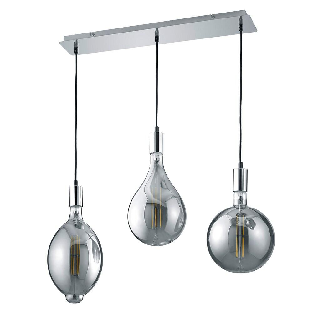 Searchlight 3380-2 Zanzibar Double LED Wall Light Metal//Black Finish