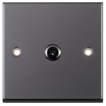 Black Nickel Toggle Switch - 1 Gang 2 Way Single