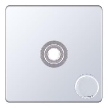 Screwless Polished Chrome LED Dimmer - 1 Gang Empty Plate With Knob