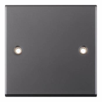 Slimline Black Nickel Blank Plate  - 1 Gang Single