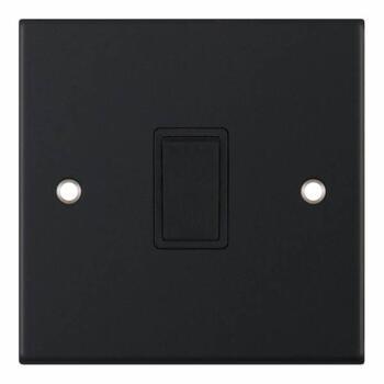 Slimline Matt Black 20A DP Switch - 20A DP Switch