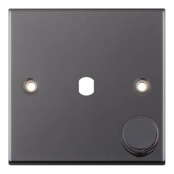 Slimline Black Nickel Empty LED Dimmer - 1 Gang