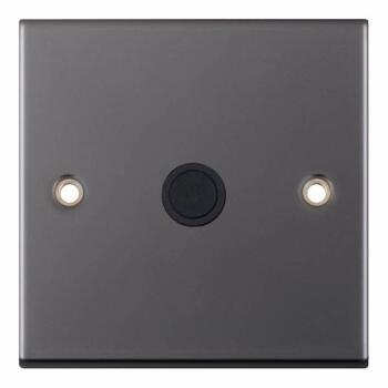 Slimline Black Nickel Flex Outlet Plate - Single