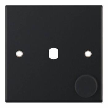 Slimline Matt Black Empty LED Dimmer - 1 Gang
