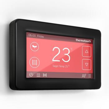 WIFI Dual Control Touchscreen Thermostat  - Satin Black