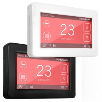 Dual Control Touchscreen Thermostat - Ice White