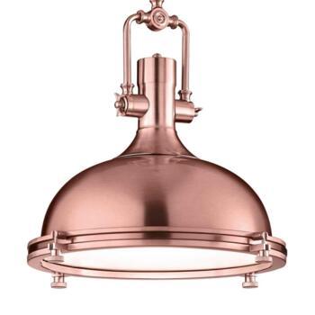 400mm Copper Industrial Pendant Light - Fitting
