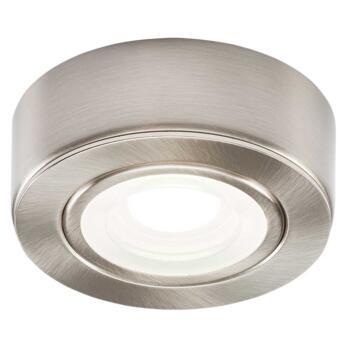 240v 2w LED Brushed Chrome Kitchen Undercabinet Light - Warm White 3000K