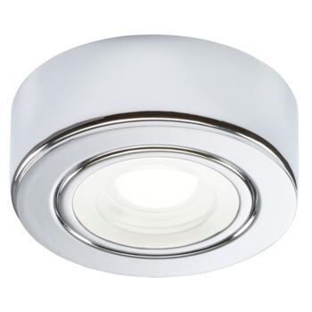 240v 2w LED Chrome Kitchen Undercabinet Light - Warm White 3000K