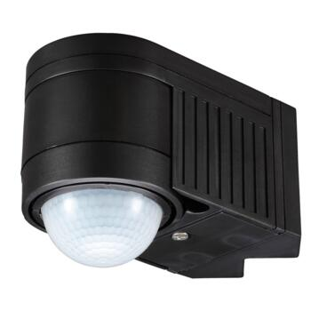 Black Corner Mount 360 Degree PIR Motion Sensor - Black