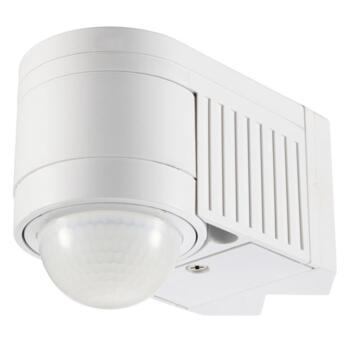 White Corner Mount 360 Degree PIR Motion Sensor - White