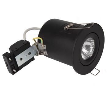 Matt Black Fire Rated Downlight Adjustable GU10 - Fitting Only