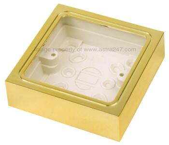 Brass Single Pattress Back Box	 - 1 Gang
