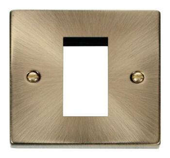 Antique Brass Euro Data Plate - 1 Module Single Plate
