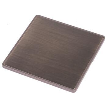 Screwless Antique Brass Blank Plate - Single 1 Gang