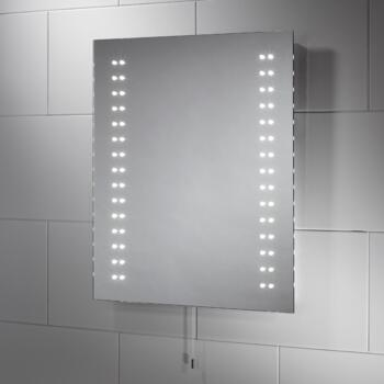 Tula 30mm Slimline LED Illuminated Bathroom Mirror 4.2w - 500mm x 600mm - Ip44