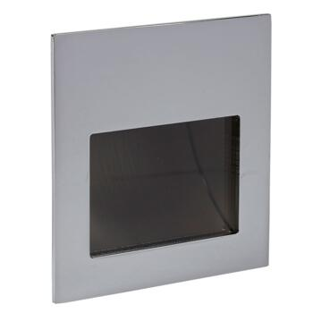 Mia 4w LED Square Wall Stair Light - Brushed Nickel