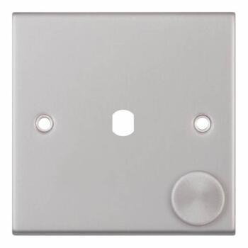 Slimline Satin Chrome Empty LED Dimmer - 1 Gang