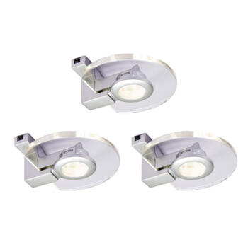 2.5w LED Round Glass Undercabinet Downlight - Kit of 3 With Driver