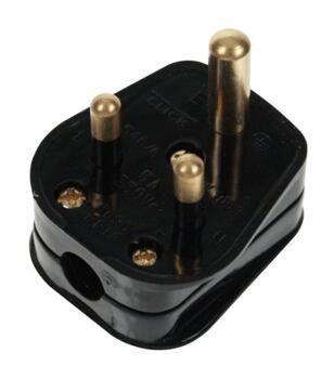 Screwless Matt Black 5a Lighting Socket - Metal - 5a Plugtop Black